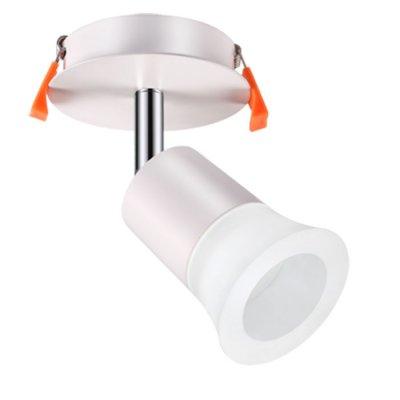 Встраиваемый светильник Novotech 357457 SOLOНа ножке<br><br><br>Цветовая t, К: 3000К<br>MAX мощность ламп, Вт: COB 10W<br>Высота, мм: 150<br>Оттенок (цвет): матовый белый<br>Цвет арматуры: серебристый