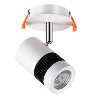 Встраиваемый светильник Novotech 357458 SOLOНа ножке<br><br><br>Цветовая t, К: 3000К<br>MAX мощность ламп, Вт: COB 10W<br>Высота, мм: 115<br>Оттенок (цвет): матовый белый<br>Цвет арматуры: серебристый