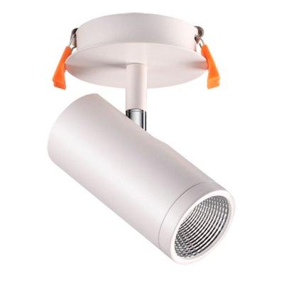 Встраиваемый светильник Novotech 357460 SOLOНа ножке<br><br><br>Цветовая t, К: 3000К<br>MAX мощность ламп, Вт: COB 10W<br>Высота, мм: 150<br>Оттенок (цвет): матовый белый<br>Цвет арматуры: белый