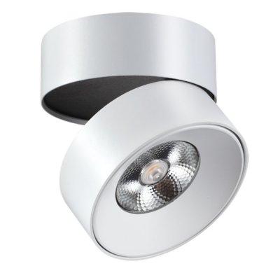 Накладной светильник Novotech 357473 TUBOОдиночные<br><br><br>S освещ. до, м2: 10<br>Цветовая t, К: 3000К<br>Высота, мм: 102<br>Оттенок (цвет): белый<br>MAX мощность ламп, Вт: COB 25W