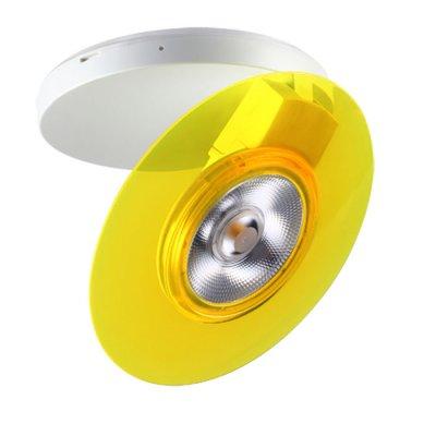 Накладной светильник Novotech 357476 RAZZOНакладные точечные<br><br><br>S освещ. до, м2: 2<br>Цветовая t, К: 3000К<br>Высота, мм: 38<br>Оттенок (цвет): белый с цветным кольцом<br>MAX мощность ламп, Вт: COB 5W