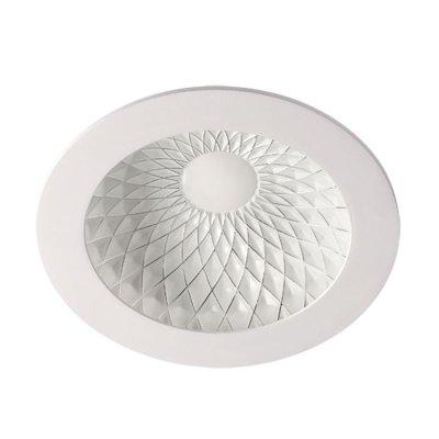 Встраиваемый светильник Novotech 357501 GESSOКруглые<br><br><br>Цветовая t, К: 3000К<br>MAX мощность ламп, Вт: 75LED SMD2835 15Вт<br>Оттенок (цвет): белый/хром