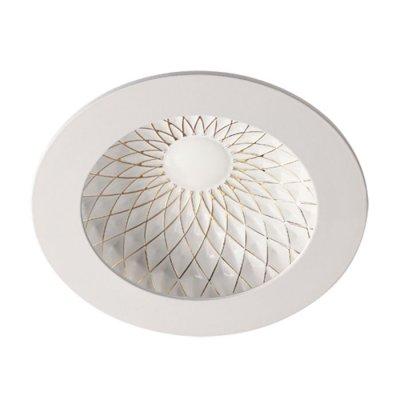 Встраиваемый светильник Novotech 357504 GESSOКруглые встраиваемые светильники<br><br><br>Цветовая t, К: 3000К<br>Оттенок (цвет): белый/золото<br>MAX мощность ламп, Вт: 75LED SMD2835 15Вт