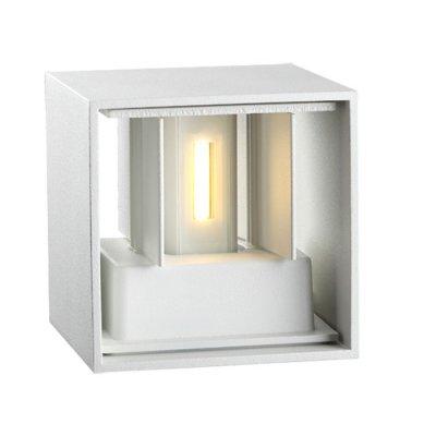 Светильник ландшафтный светодиодный Novotech 357518 CALLEНастенные<br><br><br>Цветовая t, К: 3000К<br>Ширина, мм: 100<br>Высота, мм: 100<br>Оттенок (цвет): белый<br>MAX мощность ламп, Вт: COB 2*3W
