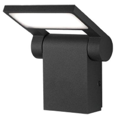 Ландшафтный светодиодный светильник Novotech 357521 ROCAНастенные<br><br><br>Цветовая t, К: 3000K<br>Ширина, мм: 46<br>Высота, мм: 195<br>Оттенок (цвет): темно-серый<br>MAX мощность ламп, Вт: 48LED SMD2835 10W