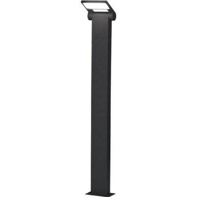 Ландшафтный светодиодный светильник Novotech 357522 ROCAНастенные<br><br><br>Цветовая t, К: 3000K<br>Ширина, мм: 74.8<br>Высота, мм: 100<br>Оттенок (цвет): темно-серый<br>MAX мощность ламп, Вт: 48LED SMD2835 10W