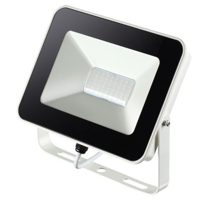 Прожектор светодиодный Novotech 357528 ARMINCветодиодные<br><br><br>Цветовая t, К: 4000K<br>Ширина, мм: 190<br>MAX мощность ламп, Вт: 54LED SMD2835 30W<br>Высота, мм: 40<br>Оттенок (цвет): белый с белым проводом