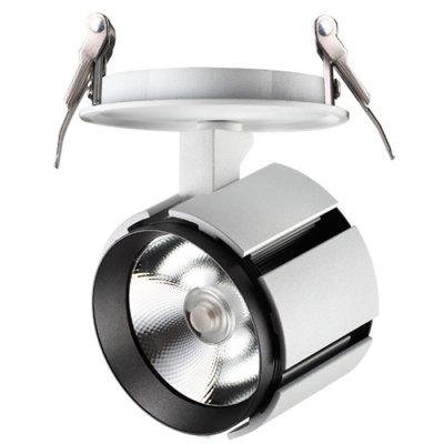 Встраиваемый светильник Novotech 357536 KULLEНа ножке<br><br><br>Цветовая t, К: 3000K<br>MAX мощность ламп, Вт: CREE CXA-1512 1*15W DC400mA<br>Диаметр, мм мм: 96<br>Диаметр врезного отверстия, мм: 90<br>Высота, мм: 116<br>Оттенок (цвет): белый