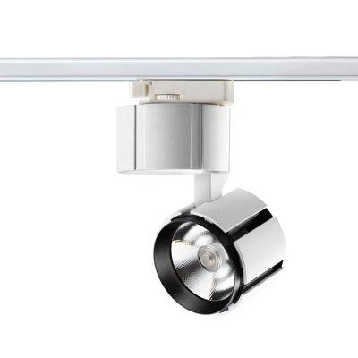 Трековый светильник Novotech 357537 KULLEСветильники для трека<br><br><br>Цветовая t, К: 3000K<br>MAX мощность ламп, Вт: CREE CXA-1512 1*15W DC400mA<br>Диаметр, мм мм: 93<br>Высота, мм: 142<br>Оттенок (цвет): белый