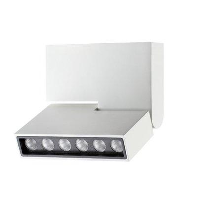 Накладной светильник Novotech 357538 EOSОдиночные<br><br><br>S освещ. до, м2: 3<br>Цветовая t, К: 3000K<br>Ширина, мм: 25<br>Высота, мм: 135<br>Оттенок (цвет): белый<br>MAX мощность ламп, Вт: CREE XP-E LED 6*1W DC350mA