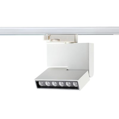 Трековый светильник Novotech 357539 EOSСветильники для трека<br><br><br>Цветовая t, К: 3000K<br>Ширина, мм: 25<br>MAX мощность ламп, Вт: CREE XP-E LED 6*1W DC350mA<br>Высота, мм: 135<br>Оттенок (цвет): белый