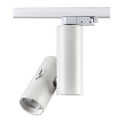 Трековый светильник Novotech 357546 BLADEСветильники для трека<br><br><br>Цветовая t, К: 3000K<br>MAX мощность ламп, Вт: COB 15W<br>Диаметр, мм мм: 65<br>Высота, мм: 270<br>Оттенок (цвет): белый