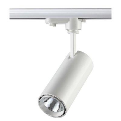 Трековый светильник Novotech 357547 SELENEСветильники для трека<br><br><br>Цветовая t, К: 4000K<br>Диаметр, мм мм: 63<br>Высота, мм: 221<br>Оттенок (цвет): белый<br>MAX мощность ламп, Вт: COB 15W
