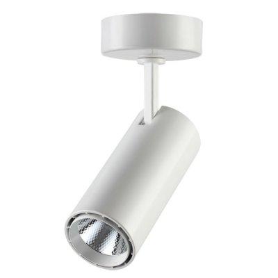 Накладной светильник Novotech 357549 SELENEОдиночные<br><br><br>S освещ. до, м2: 6<br>Цветовая t, К: 4000K<br>Диаметр, мм мм: 63<br>Высота, мм: 217<br>Оттенок (цвет): белый<br>MAX мощность ламп, Вт: COB 15W