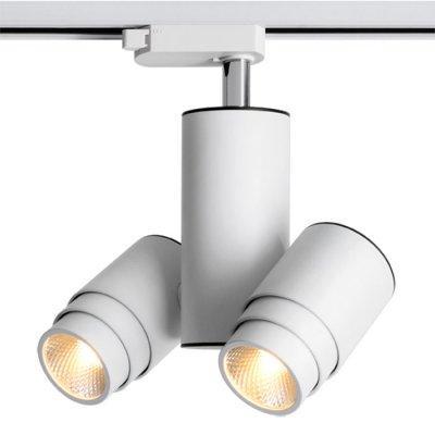 Трековый светильник Novotech 357553 ZEUSСветильники для трека<br><br><br>Цветовая t, К: 3000K<br>Ширина, мм: 95<br>Диаметр, мм мм: 59.5<br>Высота, мм: 195<br>Оттенок (цвет): белый<br>MAX мощность ламп, Вт: COB 2*9W