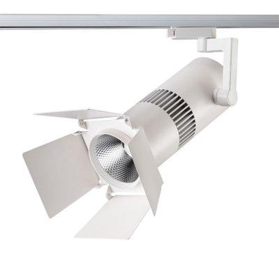 Трековый светильник Novotech 357558 UFO LEDСветильники для трека<br><br><br>Цветовая t, К: 3000K<br>Диаметр, мм мм: 125<br>Высота, мм: 370<br>Оттенок (цвет): белый<br>MAX мощность ламп, Вт: COB 30W