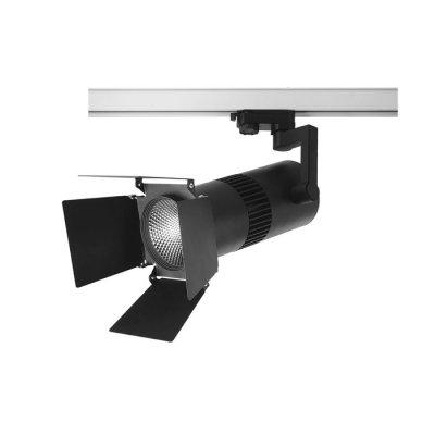 Трековый светильник Novotech 357559 UFO LEDСветильники для трека<br><br><br>Цветовая t, К: 3000K<br>Диаметр, мм мм: 125<br>Высота, мм: 370<br>Оттенок (цвет): черный<br>MAX мощность ламп, Вт: COB 30W