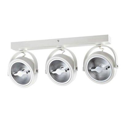 Накладной светодиодный светильник Novotech 357562 SNAILтройные споты<br><br><br>S освещ. до, м2: 18<br>Цветовая t, К: 3000K<br>Ширина, мм: 40<br>Высота, мм: 195<br>Оттенок (цвет): белый<br>MAX мощность ламп, Вт: 3*15W