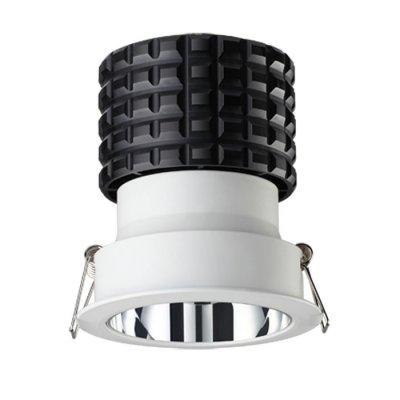 Ввстраиваемый светодиодный светильник Novotech 357564 TURBINEКруглые<br><br><br>Цветовая t, К: 3000K<br>MAX мощность ламп, Вт: 10W<br>Диаметр, мм мм: 85<br>Диаметр врезного отверстия, мм: 75<br>Высота, мм: 92<br>Оттенок (цвет): белый