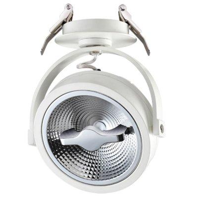 Ввстраиваемый светодиодный светильник Novotech 357565 SNAILОдиночные<br><br><br>S освещ. до, м2: 6<br>Цветовая t, К: 3000K<br>Ширина, мм: 120<br>Диаметр врезного отверстия, мм: 70<br>Высота, мм: 145<br>Оттенок (цвет): белый<br>MAX мощность ламп, Вт: 15W