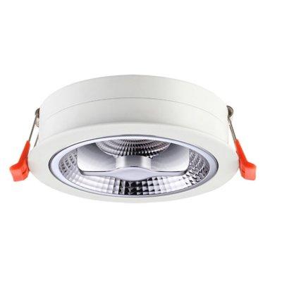 Ввстраиваемый светодиодный светильник Novotech 357568 SNAILКруглые<br><br><br>Цветовая t, К: 3000K<br>MAX мощность ламп, Вт: 15W<br>Диаметр, мм мм: 130<br>Диаметр врезного отверстия, мм: 120<br>Высота, мм: 60<br>Оттенок (цвет): белый