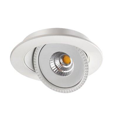 Ввстраиваемый светодиодный светильник Novotech 357576 GESSOКруглые<br><br><br>Цветовая t, К: 3000K<br>MAX мощность ламп, Вт: COB 15W<br>Диаметр, мм мм: 160<br>Диаметр врезного отверстия, мм: 145<br>Оттенок (цвет): белый
