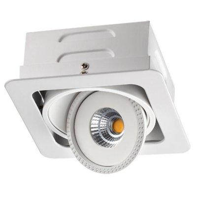 Встраиваемый светодиодный светильник Novotech 357577 GESSOКарданные светильники<br><br><br>Цветовая t, К: 3000K<br>Ширина, мм: 120<br>Диаметр врезного отверстия, мм: 105*105<br>Оттенок (цвет): белый<br>MAX мощность ламп, Вт: COB 7W