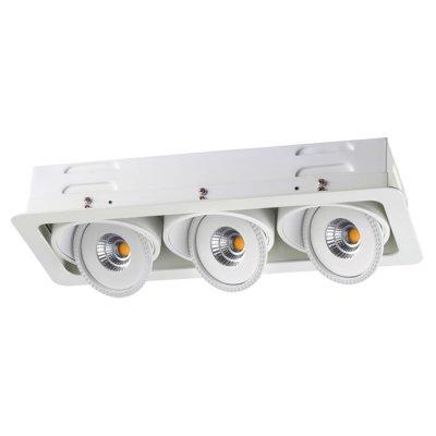 Встраиваемый светодиодный светильник Novotech 357582 GESSOКарданные<br><br><br>Цветовая t, К: 3000K<br>Ширина, мм: 167<br>MAX мощность ламп, Вт: COB 3*15W<br>Диаметр врезного отверстия, мм: 430*155<br>Оттенок (цвет): белый