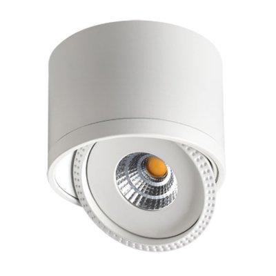 Накладной светильник Novotech 357583 GESSOОдиночные<br><br><br>S освещ. до, м2: 3<br>Цветовая t, К: 3000K<br>Диаметр, мм мм: 84<br>Высота, мм: 62<br>Оттенок (цвет): белый<br>MAX мощность ламп, Вт: COB 7W