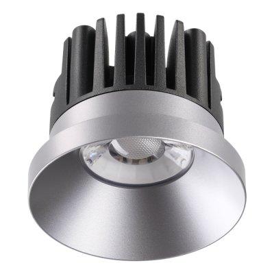 Ввстраиваемый светодиодный светильник Novotech 357587 METISКруглые<br><br><br>Цветовая t, К: 3000K<br>Диаметр, мм мм: 80<br>Диаметр врезного отверстия, мм: 70<br>Оттенок (цвет): серебро<br>MAX мощность ламп, Вт: COB 10W