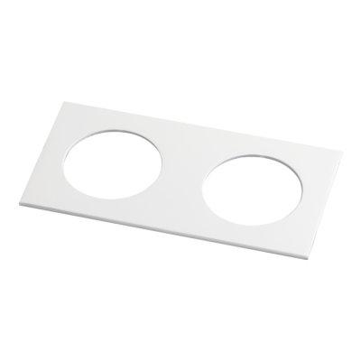 Рамка декоративная Novotech 357596 METISОжидается<br><br><br>Ширина, мм: 100<br>Диаметр врезного отверстия, мм: 70<br>Оттенок (цвет): белый