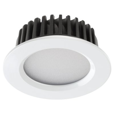 Встраиваемый светодиодный светильник Novotech 357600 DRUMКруглые<br><br><br>Цветовая t, К: 3000K<br>Диаметр, мм мм: 110<br>Диаметр врезного отверстия, мм: 95<br>Оттенок (цвет): белый<br>MAX мощность ламп, Вт: 20LED SMD5730 10W