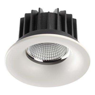Ввстраиваемый светодиодный светильник Novotech 357603 DRUMКруглые<br><br><br>Цветовая t, К: 3000K<br>Диаметр, мм мм: 125<br>Диаметр врезного отверстия, мм: 105<br>Оттенок (цвет): белый<br>MAX мощность ламп, Вт: COB 20W