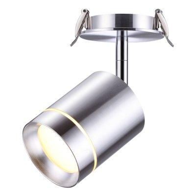 Встраиваемый светодиодный светильник Novotech 357689 ARUMМеталлические потолочные светильники<br><br><br>Цветовая t, К: 3000K<br>Тип лампы: LED - светодиодная<br>Тип цоколя: LED, встроенные светодиоды<br>Цвет арматуры: серебристый<br>Количество ламп: 1<br>Диаметр, мм мм: 90<br>Диаметр врезного отверстия, мм: 75<br>Высота, мм: 165<br>Поверхность арматуры: глянцевая<br>Оттенок (цвет): алюминий<br>MAX мощность ламп, Вт: 9
