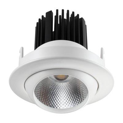 Встраиваемый светильник Novotech 357694 DRUMОжидается<br><br><br>Цветовая t, К: 3000K<br>Диаметр, мм мм: 90<br>Диаметр врезного отверстия, мм: 80<br>Высота, мм: 92<br>Оттенок (цвет): белый<br>MAX мощность ламп, Вт: COB 10W