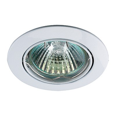 Точечный встраиваемый светильник Novotech 369100 CROWNкруглые точечные светильники<br>Стандартный встраиваемый поворотный светильник модели Novotech 369100 из серии CROWN отличается следующим качеством: Светильник сделан из алюминиевого литья. Это сплав, основными  достоинствами которого являются — устойчивость к практически всем видам негативного воздействия окружающей среды, коррозии, небольшой вес, по сравнению с другими видами металла и   экологическая безопасность материала.