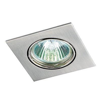 Novotech QUADRO 369106 Точечный встраиваемый светильникКвадратные<br>Встраиваемый поворотный светильник модели Novotech 369106 из серии QUADRO отличается следующим качеством: Светильник сделан из алюминиевого литья. Это сплав, основными  достоинствами которого являются — устойчивость к практически всем видам негативного воздействия окружающей среды, коррозии, небольшой вес, по сравнению с другими видами металла и экологическая безопасность материала.<br><br>S освещ. до, м2: 3<br>Тип лампы: галогенная<br>Тип цоколя: GU5.3 (MR16)<br>Количество ламп: 1<br>Ширина, мм: 82<br>MAX мощность ламп, Вт: 50<br>Диаметр врезного отверстия, мм: 75<br>Длина, мм: 82<br>Высота, мм: 27<br>Цвет арматуры: серебристый