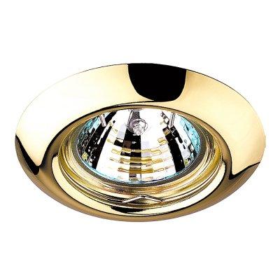 Novotech TOR 369113 Точечный встраиваемый светильникКруглые<br>Встраиваемый неповоротный светильник модели Novotech 369113 из серии TOR отличается следующим качеством: Светильник сделан из металла. Это популярный и востребованный материал благодаря ряду качеств. К ним относится: повышенная прочность, износостойкость и долговечность. Любому интерьеру он придаст солидности и завершенности, поможет расставить акценты.<br><br>S освещ. до, м2: 3<br>Тип лампы: галогенная<br>Тип цоколя: GU5.3 (MR16)<br>Количество ламп: 1<br>MAX мощность ламп, Вт: 50<br>Диаметр, мм мм: 80<br>Диаметр врезного отверстия, мм: 60<br>Высота, мм: 40<br>Цвет арматуры: Золотой