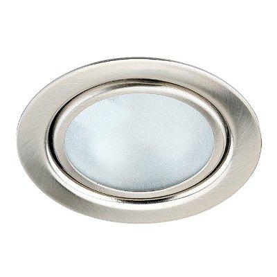 Novotech FLAT 369120 Встраиваемый светильникМебельные<br>Встраиваемый неповоротный светильник с защитным стеклом (лампа в комплекте) модели Novotech 369120 из серии FLAT отличается следующим качеством: Светильник сделан из металла. Это популярный и востребованный материал благодаря ряду качеств. К ним относится: повышенная прочность, износостойкость и долговечность. Любому интерьеру он придаст солидности и завершенности, поможет расставить акценты.<br><br>S освещ. до, м2: 2<br>Тип лампы: галогенная<br>Тип цоколя: G4<br>Количество ламп: 1<br>MAX мощность ламп, Вт: 20<br>Диаметр, мм мм: 72<br>Диаметр врезного отверстия, мм: 55<br>Высота, мм: 27<br>Оттенок (цвет): янтарный<br>Цвет арматуры: серебристый