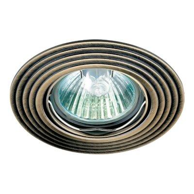 Novotech ANTIC 369162 Точечный встраиваемый светильникКруглые<br>Встраиваемый поворотный светильник модели Novotech 369162 из серии ANTIC отличается следующим качеством: Светильник сделан из алюминиевого литья. Это сплав, основными  достоинствами которого являются — устойчивость к практически всем видам негативного воздействия окружающей среды, коррозии, небольшой вес, по сравнению с другими видами металла и   экологическая безопасность материала.<br><br>S освещ. до, м2: 3<br>Тип лампы: галогенная<br>Тип цоколя: GU5.3 (MR16)<br>Количество ламп: 1<br>MAX мощность ламп, Вт: 50<br>Диаметр, мм мм: 93<br>Диаметр врезного отверстия, мм: 75<br>Высота, мм: 27<br>Цвет арматуры: латунь