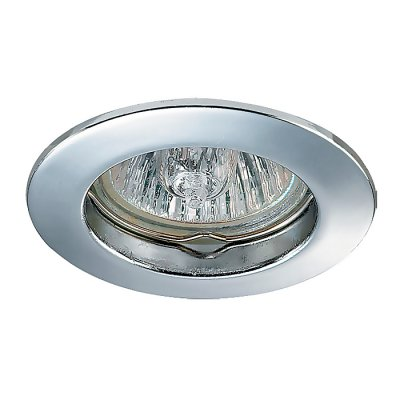 Novotech STAR2 369200 Точечный встраиваемый светильникТочечные светильники круглые<br>Встраиваемый светильник модели Novotech 369200 из серии STAR2 отличается следующим качеством: Светильник сделан из алюминиевого литья. Это сплав, основными  достоинствами которого являются — устойчивость к практически всем видам негативного воздействия окружающей среды, коррозии, небольшой вес, по сравнению с другими видами металла и экологическая безопасность материала.<br><br>S освещ. до, м2: 2<br>Тип лампы: галогенная<br>Тип цоколя: GU4<br>Цвет арматуры: серебристый<br>Количество ламп: 1<br>Диаметр, мм мм: 55<br>Диаметр врезного отверстия, мм: 45<br>Высота, мм: 27<br>MAX мощность ламп, Вт: 35