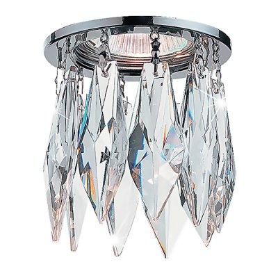 Novotech LINN 369259 Встраиваемый светильникХрустальные<br>Декоративный встраиваемый неповоротный светильник модели Novotech 369259 из серии LINN отличается следующим качеством: Основание светильника – алюминиевое литьё. Это сплав, основными  достоинствами которого являются — устойчивость к практически всем видам негативного воздействия окружающей среды, коррозии, небольшой вес, по сравнению с другими видами металла и   экологическая безопасность материала.   Декоративные подвески произведены из хрусталя. Он обладает высоким показателем плотности, прозрачности и блеска. Благодаря содержанию свинца (не менее 30%) и определённому подбору углов, образуемых гранями, изделия из хрусталя отличаются необыкновенно яркой, многоцветной игрой света, чарующей магией красоты, совершенства и роскоши. А так же, он обладают красивым звоном.<br><br>S освещ. до, м2: 3<br>Тип лампы: галогенная<br>Тип цоколя: GU5.3 (MR16)<br>Количество ламп: 1<br>MAX мощность ламп, Вт: 50<br>Диаметр, мм мм: 80<br>Диаметр врезного отверстия, мм: 55<br>Высота, мм: 137<br>Оттенок (цвет): хрусталь<br>Цвет арматуры: серебристый