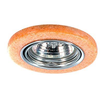 Novotech STONE 369281 Точечный встраиваемый светильникКруглые<br>Декоративный встраиваемый поворотный светильник модели Novotech 369281 из серии STONE отличается следующим качеством: Основание светильника – алюминиевое литьё. Это сплав, основными  достоинствами которого являются — устойчивость к практически всем видам негативного воздействия окружающей среды, коррозии, небольшой вес, по сравнению с другими видами металла и   экологическая безопасность материала. Декоративный плафон сделан из искусственного камня.  Этот материал отличается, без преувеличения, уникальными эксплуатационными качествами. Он прочный и долговечный, влагоустойчивый, гигиеничный (на гладкой поверхности бактерии не приживаются), термостойкий,  экологичный и лёгкий. А так же тёплый на ощупь.<br><br>S освещ. до, м2: 3<br>Тип лампы: галогенная<br>Тип цоколя: GU5.3 (MR16)<br>Количество ламп: 1<br>MAX мощность ламп, Вт: 50<br>Диаметр, мм мм: 88<br>Диаметр врезного отверстия, мм: 68<br>Высота, мм: 30<br>Оттенок (цвет): роз камень<br>Цвет арматуры: серебристый