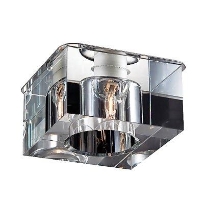 Novotech CUBIC 369298 Встраиваемый светильникКвадратные<br>Декоративный встраиваемый светильник модели Novotech 369298 из серии CUBIC отличается следующим качеством: Основание светильника сделано из металла. Это популярный и востребованный материал благодаря ряду качеств. К ним относится: повышенная прочность, износостойкость и долговечность. Декоративный плафон произведен из хрусталя. Он обладает высоким показателем плотности, прозрачности и блеска. Благодаря содержанию свинца (не менее 30%) и определённому подбору углов, образуемых гранями, изделия из хрусталя отличаются необыкновенно яркой, многоцветной игрой света, чарующей магией красоты, совершенства и роскоши.<br><br>S освещ. до, м2: 2<br>Тип товара: Встраиваемый светильник<br>Тип лампы: галогенная<br>Тип цоколя: G9<br>Количество ламп: 1<br>MAX мощность ламп, Вт: 40<br>Диаметр, мм мм: 78<br>Диаметр врезного отверстия, мм: 53<br>Высота, мм: 70<br>Цвет арматуры: серебристый