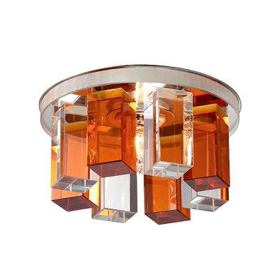Novotech CARAMEL 3 369353 Встраиваемый светильникКруглые<br>Декоративный встраиваемый светильник модели Novotech 369353 из серии CARAMEL 3 отличается следующим качеством: Основание светильника сделано из металла. Это популярный и востребованный материал благодаря ряду качеств. К ним относится: повышенная прочность, износостойкость и долговечность. Декоративный плафон произведён из оптического стекла. От обычного стекла оптическое, отличается особенно высокой прозрачностью, чистотой, бесцветностью, однородностью, а также строго нормированными преломляющей способностью, дисперсией, в необходимых случаях - цветом.<br><br>S освещ. до, м2: 2<br>Тип лампы: галогенная<br>Тип цоколя: G9<br>Количество ламп: 1<br>MAX мощность ламп, Вт: 40<br>Диаметр, мм мм: 105<br>Диаметр врезного отверстия, мм: 50<br>Высота, мм: 70<br>Оттенок (цвет): прозрачно-янтарный<br>Цвет арматуры: серебристый