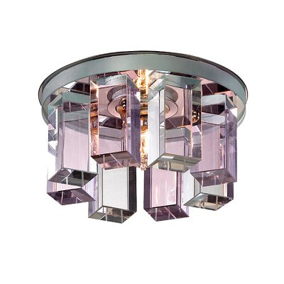 Novotech CARAMEL 3 369354 Встраиваемый светильникКруглые<br>Декоративный встраиваемый светильник модели Novotech 369354 из серии CARAMEL 3 отличается следующим качеством: Основание светильника сделано из металла. Это популярный и востребованный материал благодаря ряду качеств. К ним относится: повышенная прочность, износостойкость и долговечность. Декоративный плафон произведён из оптического стекла. От обычного стекла оптическое, отличается особенно высокой прозрачностью, чистотой, бесцветностью, однородностью, а также строго нормированными преломляющей способностью, дисперсией, в необходимых случаях - цветом.<br><br>S освещ. до, м2: 2<br>Тип лампы: галогенная<br>Тип цоколя: G9<br>Количество ламп: 1<br>MAX мощность ламп, Вт: 40<br>Диаметр, мм мм: 105<br>Диаметр врезного отверстия, мм: 50<br>Высота, мм: 70<br>Оттенок (цвет): прозрачно-розовый<br>Цвет арматуры: серебристый