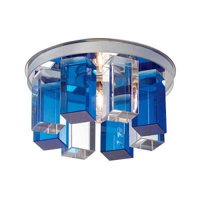 Novotech CARAMEL 3 369355 Встраиваемый светильникКруглые<br>Декоративный встраиваемый светильник модели Novotech 369355 из серии CARAMEL 3 отличается следующим качеством: Основание светильника сделано из металла. Это популярный и востребованный материал благодаря ряду качеств. К ним относится: повышенная прочность, износостойкость и долговечность. Декоративный плафон произведён из оптического стекла. От обычного стекла оптическое, отличается особенно высокой прозрачностью, чистотой, бесцветностью, однородностью, а также строго нормированными преломляющей способностью, дисперсией, в необходимых случаях - цветом.<br><br>S освещ. до, м2: 2<br>Тип лампы: галогенная<br>Тип цоколя: G9<br>Количество ламп: 1<br>MAX мощность ламп, Вт: 40<br>Диаметр, мм мм: 105<br>Диаметр врезного отверстия, мм: 50<br>Высота, мм: 70<br>Оттенок (цвет): голубой<br>Цвет арматуры: серебристый