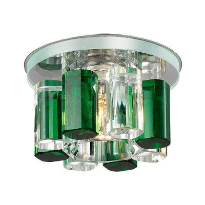 Novotech CARAMEL 3 369357 Встраиваемый светильникКруглые<br>Декоративный встраиваемый светильник модели Novotech 369357 из серии CARAMEL 3 отличается следующим качеством: Основание светильника сделано из металла. Это популярный и востребованный материал благодаря ряду качеств. К ним относится: повышенная прочность, износостойкость и долговечность. Декоративный плафон произведён из оптического стекла. От обычного стекла оптическое, отличается особенно высокой прозрачностью, чистотой, бесцветностью, однородностью, а также строго нормированными преломляющей способностью, дисперсией, в необходимых случаях - цветом.<br><br>S освещ. до, м2: 2<br>Тип лампы: галогенная<br>Тип цоколя: G9<br>Количество ламп: 1<br>MAX мощность ламп, Вт: 40<br>Диаметр, мм мм: 105<br>Диаметр врезного отверстия, мм: 50<br>Высота, мм: 70<br>Оттенок (цвет): прозрачно-зелёный<br>Цвет арматуры: серебристый