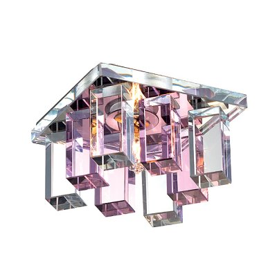 Novotech CARAMEL 2 369369 Встраиваемый светильникКвадратные<br>Декоративный встраиваемый светильник модели Novotech 369369 из серии CARAMEL 2 отличается следующим качеством: Основание светильника сделано из металла. Это популярный и востребованный материал благодаря ряду качеств. К ним относится: повышенная прочность, износостойкость и долговечность. Декоративный плафон произведён из оптического стекла. От обычного стекла оптическое, отличается особенно высокой прозрачностью, чистотой, бесцветностью, однородностью, а также строго нормированными преломляющей способностью, дисперсией, в необходимых случаях - цветом.<br><br>S освещ. до, м2: 2<br>Тип лампы: галогенная<br>Тип цоколя: G9<br>Количество ламп: 1<br>Ширина, мм: 85<br>MAX мощность ламп, Вт: 40<br>Диаметр врезного отверстия, мм: 55<br>Длина, мм: 85<br>Высота, мм: 70<br>Оттенок (цвет): прозрачно-розовый<br>Цвет арматуры: серебристый