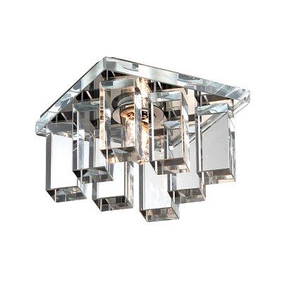 Novotech CARAMEL 2 369371 Встраиваемый светильникКвадратные<br>Декоративный встраиваемый светильник модели Novotech 369371 из серии CARAMEL 2 отличается следующим качеством: Основание светильника сделано из металла. Это популярный и востребованный материал благодаря ряду качеств. К ним относится: повышенная прочность, износостойкость и долговечность. Декоративный плафон произведён из оптического стекла. От обычного стекла оптическое, отличается особенно высокой прозрачностью, чистотой, бесцветностью, однородностью, а также строго нормированными преломляющей способностью, дисперсией, в необходимых случаях - цветом.<br><br>S освещ. до, м2: 2<br>Тип лампы: галогенная<br>Тип цоколя: G9<br>Количество ламп: 1<br>Ширина, мм: 85<br>MAX мощность ламп, Вт: 40<br>Диаметр врезного отверстия, мм: 55<br>Длина, мм: 85<br>Высота, мм: 70<br>Оттенок (цвет): прозрачный<br>Цвет арматуры: серебристый